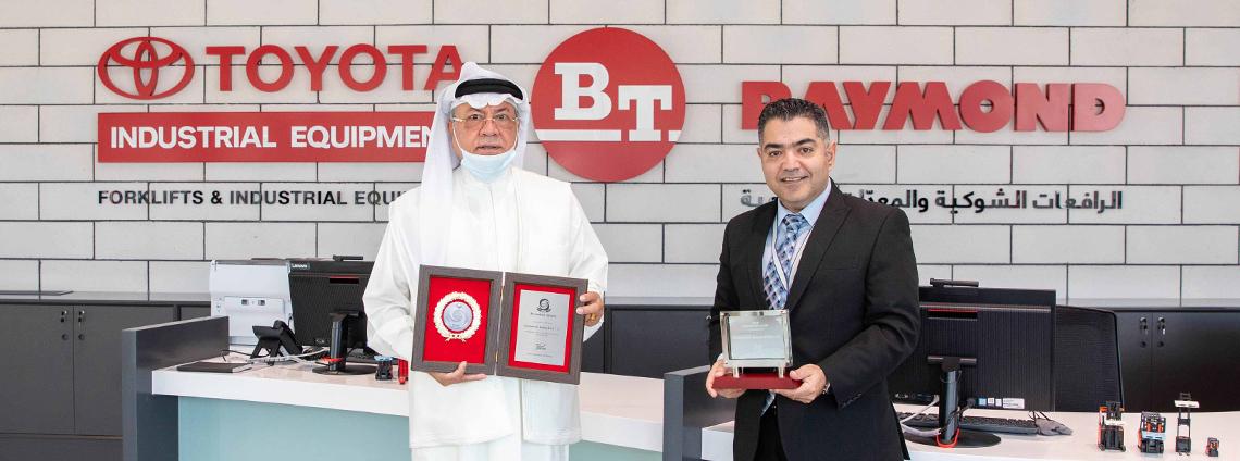 شركة إبراهيم خليل كانو  تحصل على جوائز  عالمية من مجموعة تويوتا لمعدات مناولة المواد