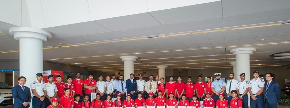 Royal Police Academy Summer Camp Students Visit Toyota Plaza