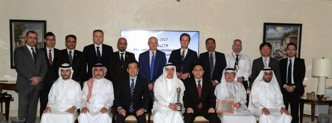 Ebrahim K. Kanoo receives TOYOTA Marketing & Customer Service Excellence Awards