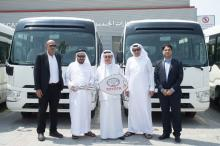 Al Sadiq Transport Receives 35 Toyota Coaster buses
