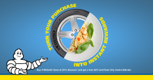 Ebrahim K. Kanoo Offers Summer Discounts on Michelin Tyres and Free Wheel Alignment Services at all TyrePlus outlets
